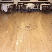 Dance floor centrepiece - oak flooring