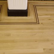 Oak flooring border