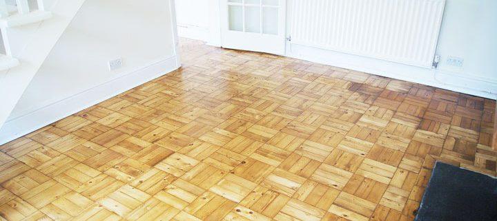 After parquet floor renovation-Basket-weave