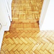 After parquet floor renovation-Door