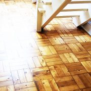 After parquet floor renovation-Stairs