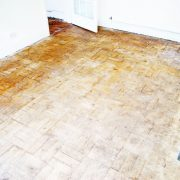 Before parquet floor renovatin-Weave
