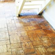 Before parquet floor renovatin-Stairs