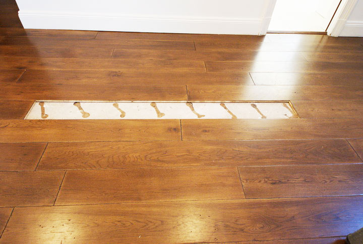 Floor board-missing