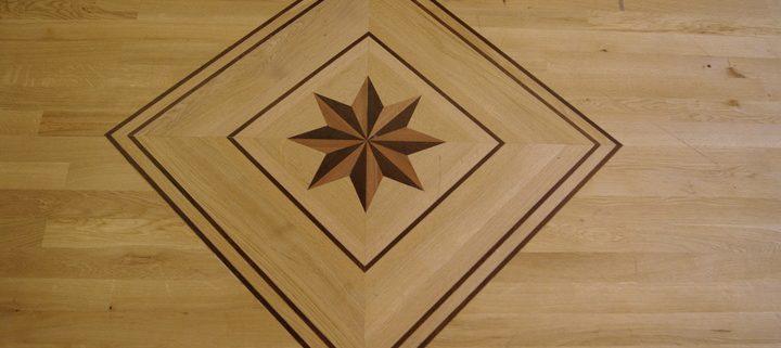 Dance floor centrepiece - oak flooring