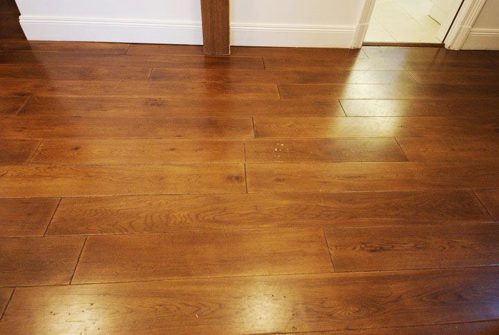 Damaged floorboard