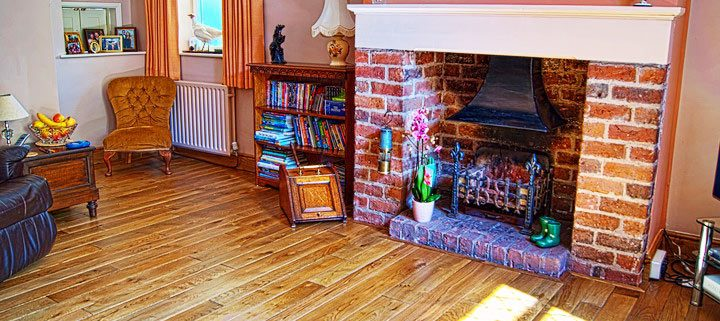 Distressed-oak-flooring-Fire-place