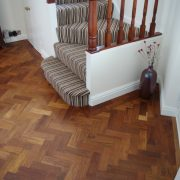 Merbau parquet floor-hall