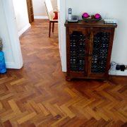 Merbau parquet floor-diner